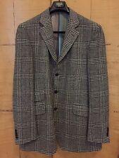 Authentic ETRO Men's Lana Wool Plaid 3 Button Sport Coat, New, EU 56L, US 46L