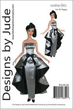 "Waterfall Dress Doll Clothes Sewing Pattern for 16"" Poppy Parker Integrity"