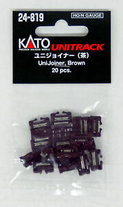 Kato UniTrack 24-819 ~ New 2021 USA ~ UniJoiner Brown ~ HO or N Scale ~ 20 Pack