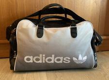 vintage Adidas duffel bag - Pu - Faux Leather - travel shoulder sports