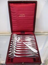 12 fourchettes à huitre métal argenté art deco filets SFAM oyster forks