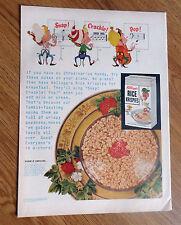 1953 Kellogg's Rice Krispies Ad Snap Crackle Pop Music