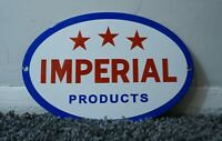 VINTAGE IMPERIAL ESSO PORCELAIN SIGN GAS SERVICE STATION OIL AD RARE PUMP PLATE