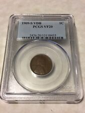 1909 S VDB PCGS VF20 1C Lincoln Cent Wheat Ears Penny very good coin