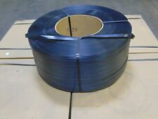 """Roll Pakrite Embossed Poly Polypropylene Plastic Strapping 1/2"""" x 18,000' Long"""