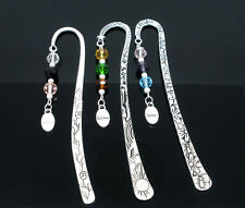 """3 Newest  Personalised Bookmarks W/Crystal """"Believe"""" Dangle Bead Gift 122mm"""