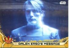 Star Wars Rogue One Series 2 Gold Base Card #22 Galen Erso's Message
