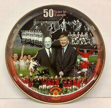 Manchester United 50 Years Europe Danbury Mint Plate Alex Ferguson Matt Busby