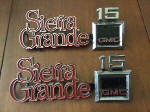 1973-1979 GMC Sierra Grande OEM Fender Emblems Square Body 1500