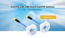 Aomway 5.8Ghz Cloverleaf FPV Antenna SMA Male for TX RX 4-Leaf 1 Pair FPV 2 pcs