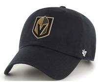 Las Vegas Golden Knights '47 Brand NHL Black Clean Up Adjustable Cap