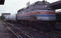 AMTRAK Railroad Locomotive 203 SPRINGFIELD MA Original 1986 Photo Slide