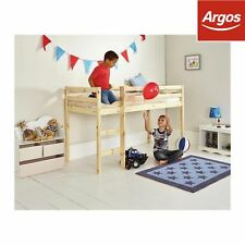 Kaycie Wooden Mid Sleeper 3ft Single Bed Frame- Pine-from The Argos Shop on EBAY