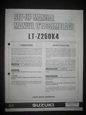 SUZUKI LT-Z250K4 Set Up Manual LT Z250 K4 Set-Up 99505-01024-01T Motorcycle
