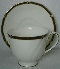 """WEDGWOOD china WINDSOR BLACK 0-01261 pattern CUP & SAUCER Set Cup 3"""""""