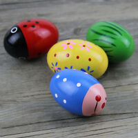 Safe Odorless Puzzle Wooden Egg Baby Toys Percussion Music Shaker Rattle Maracas