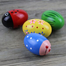 Wooden Egg Baby Toys Percussion Music Shaker Rattle Maracas