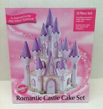 NEW! Wilton 32 Piece ROMANTIC CASTLE CAKE SET # 301-910