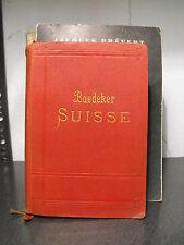 SUISSE - MANUEL DU VOYAGEUR par KARL BAEDEKER - 1911   (b5)