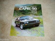 1980 Mercury Capri Turbo RS Ghia sales brochure dealer literature