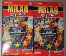 2 VHS=MILAN 10 E LODE=LE DIECI PARTITE PIU BELLE DELL'ERA BERLUSCONI-CAPELLO