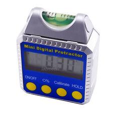 0~360° Electronic Digital Angle Finder Gauge Meter Magnetic base w/ Spirit Level