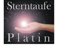DOPPELSTERNTAUFE Platin- ZWEI STERNE UNZERTRENNLICH, gerahmtes Zertifikat, Stern