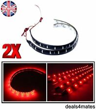 2 x étanche 30 cm 3528 SMD RED 18 DEL Flexible DRL Strip Lampe Voiture Maison