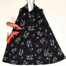$795 NICHOLAS Micro Floral V-Neck Trapeze Maxi Dress