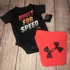 Under Armour 3-6 Months Built For Speed Outfit Set NEW Bodysuit Shorts