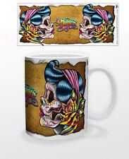 JAMES DANGER-SUGAR GYPSY RIP 11 OZ COFFEE MUG TEA CUP COLORFUL SKULL DECOR GIRLS