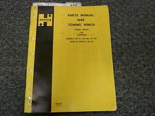 Hyster Model W6E Towing Winch For Tractors Parts Catalog Manual Book