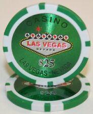 25 Green $25 Las Vegas 14g Clay Poker Chips New - Buy 2, Get 1 Free