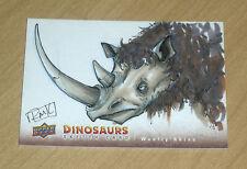 2015 Upper Deck DINOSAURS sketch card WOOLLY RHINO SC-WOR Ryan Kincaid 1/1