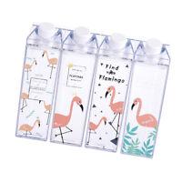 summer flamingos cartoon water milk box drink bottle birthday kid gift EJ