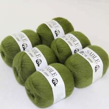 6Ballsx50g Pure Sable Cashmere Hand Knitwear Wool Shawls Soft Crochet Yarn 05
