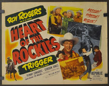 """HEART OF THE ROCKIES 1951 ORIG. 22X28 """"B"""" MOVIE POSTER ROY ROGERS TRIGGER"""