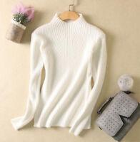 2019 New Ladies Half Turtleneck Cashmere Sweater Women's Knitted Woollen Sweater