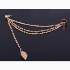 Women Punk Rock Leaf Chain Tassel Dangle Ear Stud Cuff Wrap Earring Eardrop P29