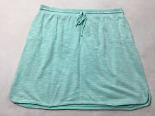 Talbots Womens 3X Plus Size Heathered Aqua Terry Sweatshirt Knit Skirt Pockets
