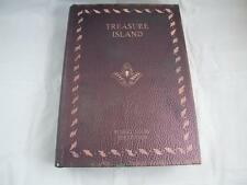 Treasure Island Book Trinket Box Leather Bound Black Lined.