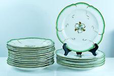 Ancien Service Porcelaine Meissen Feuille de Choux Sevres Louis XVI 18 assiettes