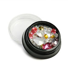 Mix Shapes Glitter 3D Flatback Diamond Acrylic crystal Nail Art Decoration Gems