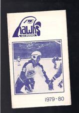 HOCKEY AHL 1979-80 NEW BRUNSWICK HAWKS POCKET SCHEDULE