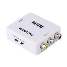 Composite HDMI A 3 RCA Audio Vídeo AV CVBS Adaptador Convertidor Para HDTV DVD