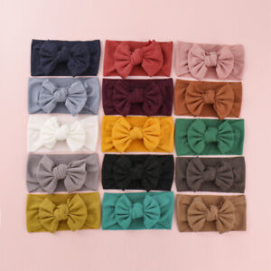 Cute Kids Girls Baby Toddler Turban Headband Hair Band Headwear Bow Accessories