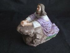 Collectibles Christ In Gethsemane Porcelian Music Box Enesco very rare