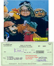 PAUL H WILLIAMS AMERICAN SINGER SONGWRITER SIGNED BANK CHEQUE / CHECK 1977 RARE