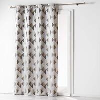 DOUCEUR D'INTERIEUR Jacquard Trilogy Grey Curtain Panel 140cm x 260cm Eyelet