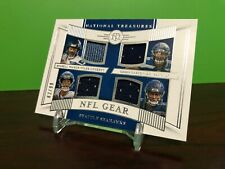 2019 #/99 QUAD rc jersey Russell Wilson DK Metcalf National Treasures SEAHAWKS